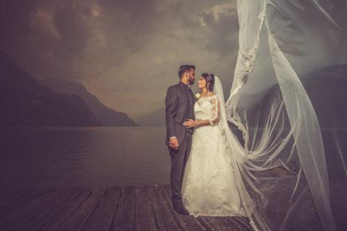 romantische Hochzeit im Waldstätterhof in Brunnen,