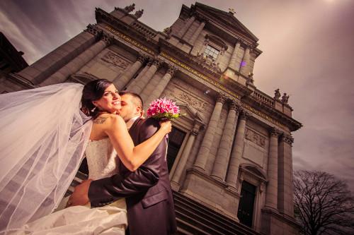 Hochzeitsfotograf Mariano bei St. Uren Kathedrale in Solothurn