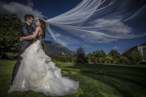 elegantes Hochzeitskleid, Hochzeitsreportage Schweiz,